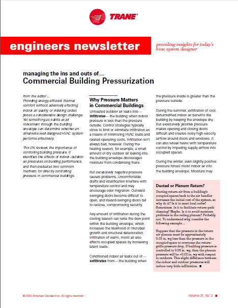 Managing The Ins And Outs Of… Commercial Building Pressurization