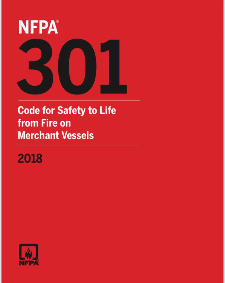 NFPA 301 – Code, Safety To Life Merchant Vessels – 2018